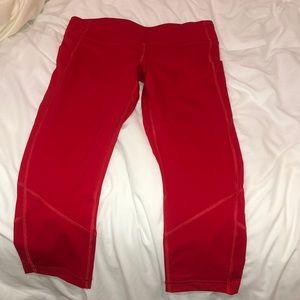 Red/orange lulu lemon leggings